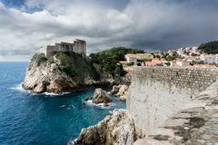 The Actual Game of Thrones Castle - Dubrovnik, Croatia. View of an old castle from inside the walls of the walls of Dubrovnik, Croatia Stock Photos