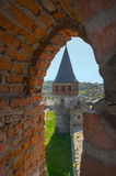 View of the Old Castle of its loopholes. At Kamyanets-Podilsky, Ukraine Stock Images