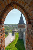 View of the Old Castle of its loopholes. At Kamyanets-Podilsky, Ukraine Royalty Free Stock Image