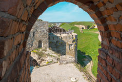 View of the Old Castle of its loopholes. At Kamyanets-Podilsky, Ukraine Royalty Free Stock Photos