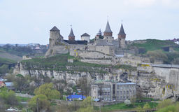 View on old castle in Kamianets  - Podilskyi Stock Images