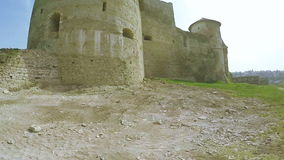 View on old castle. View from observation deck of Old Castle Kamenetz-Podolsk stock footage