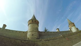 View on old castle stock video footage