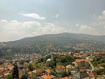 The view from old castle in the Travnik. Bosnia and Herzegovina Royalty Free Stock Images