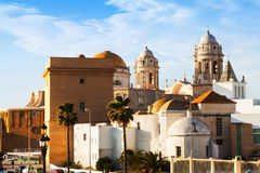 View of Old Cathedral. Cadiz Royalty Free Stock Image