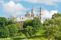 View of the old cathedral in Vilnius Stock Photography