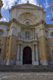 View of the old catholyc cathedral in Cadiz Stock Images