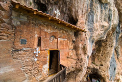 Old rock cave church near Struga,Ohrid lake Stock Image