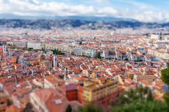 View of old center of Nice. Cote d`Azur, French Riviera. Stock Image
