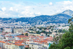 View of old center of Nice. French Riviera. Stock Photography