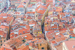 View of old center of Nice. French Riviera. Stock Image