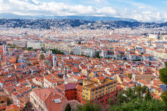 View of old center of Nice. French Riviera. Royalty Free Stock Photo