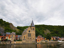 View of old church in Dinant Royalty Free Stock Photo