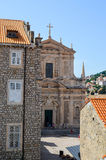 View of  old church in Dubrovnik Old Town Stock Photo