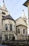 View of the old church. In the historic center of Prague Stock Photo