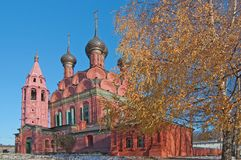 View of old church in Yaroslavl Royalty Free Stock Images