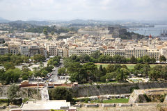 View from the Old citadel on Corfu Town (Greece) Royalty Free Stock Image