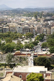 View from the Old citadel on Corfu Town (Greece). View from the Old Venetian citadel (Palaio Frourio in Greek) on the oldest part of the Corfu Town (Greece) as Royalty Free Stock Image