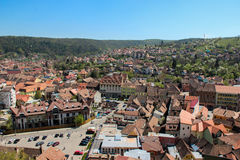 A view from the old Citadel in Sighisoara, Romania Royalty Free Stock Photos