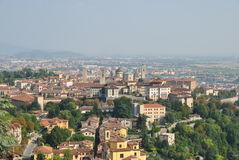 The view of the old city Bergamo Royalty Free Stock Images