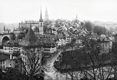 View on Old City of Bern. Royalty Free Stock Photos