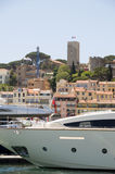 View of Old City  Cannes France harbor Royalty Free Stock Photos