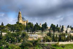 View of the Old city and Cathedral of Saint James, Jerusalem Stock Image