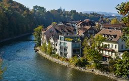 Old city center in Bern, Switzerland stock photography