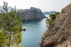 View of the old city of Dubrovnik stock photography