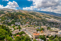 View at the old city of Gjirokaster. Albania Royalty Free Stock Photo