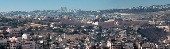 View  on the old city of Jerusalem. Israel Royalty Free Stock Photo