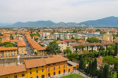 View of the old city from the Leaning Tower. Pisa, Italy Royalty Free Stock Images