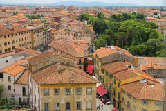 View of the old city from the Leaning Tower. Pisa, Italy Stock Photos