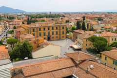 View of the old city from the Leaning Tower. Pisa, Italy Stock Image