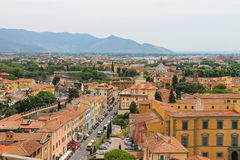 View of the old city from the Leaning Tower in Pisa, Italy Royalty Free Stock Photos