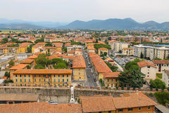 View of the old city from the Leaning Tower in Pisa, Italy Stock Photography