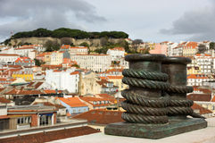 View on the old city lisboa Royalty Free Stock Photos