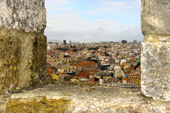 View on the old city lisboa Stock Images