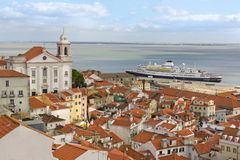 View on the old city lisboa Royalty Free Stock Photo