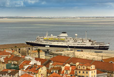 View on the old city lisboa Stock Photos