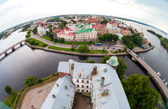 View on the Old City from the observation deck of the Vy Stock Images