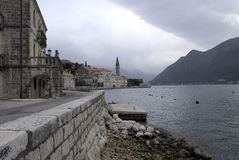 View of the old city Perast. Stock Photography