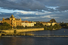 View of old city Prague - czek republic. With  Vltava river Royalty Free Stock Images