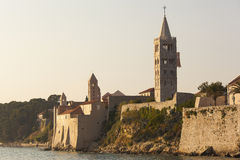View on the old city of Rab from the sea Royalty Free Stock Photos