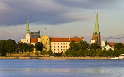 View on the old city of Riga, Europe Royalty Free Stock Photos