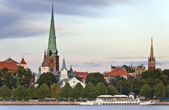 View on the old city of Riga, Europe Royalty Free Stock Images