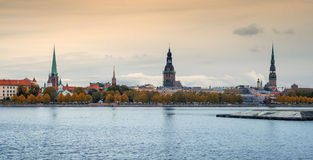 View on old city,Riga, Latvia Royalty Free Stock Image