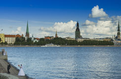 View on the old city, Riga, Latvia Stock Images