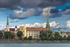 View on old city of Riga, Latvia, Europe Stock Photos