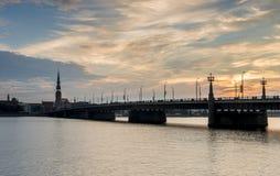 View on old city of Riga, Latvia.  Stock Photo